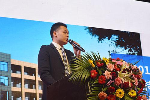 漆谷研究院办公室主任郑水先生作技术工作报告