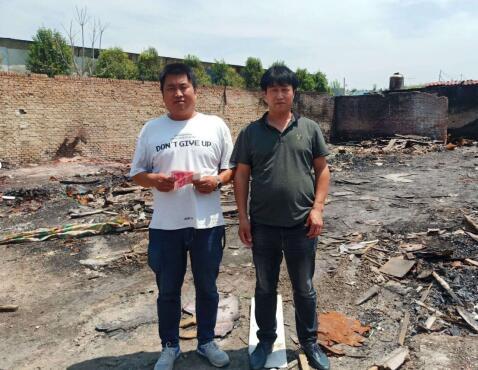 名士达慈善联盟爱心救助西安火灾门厂